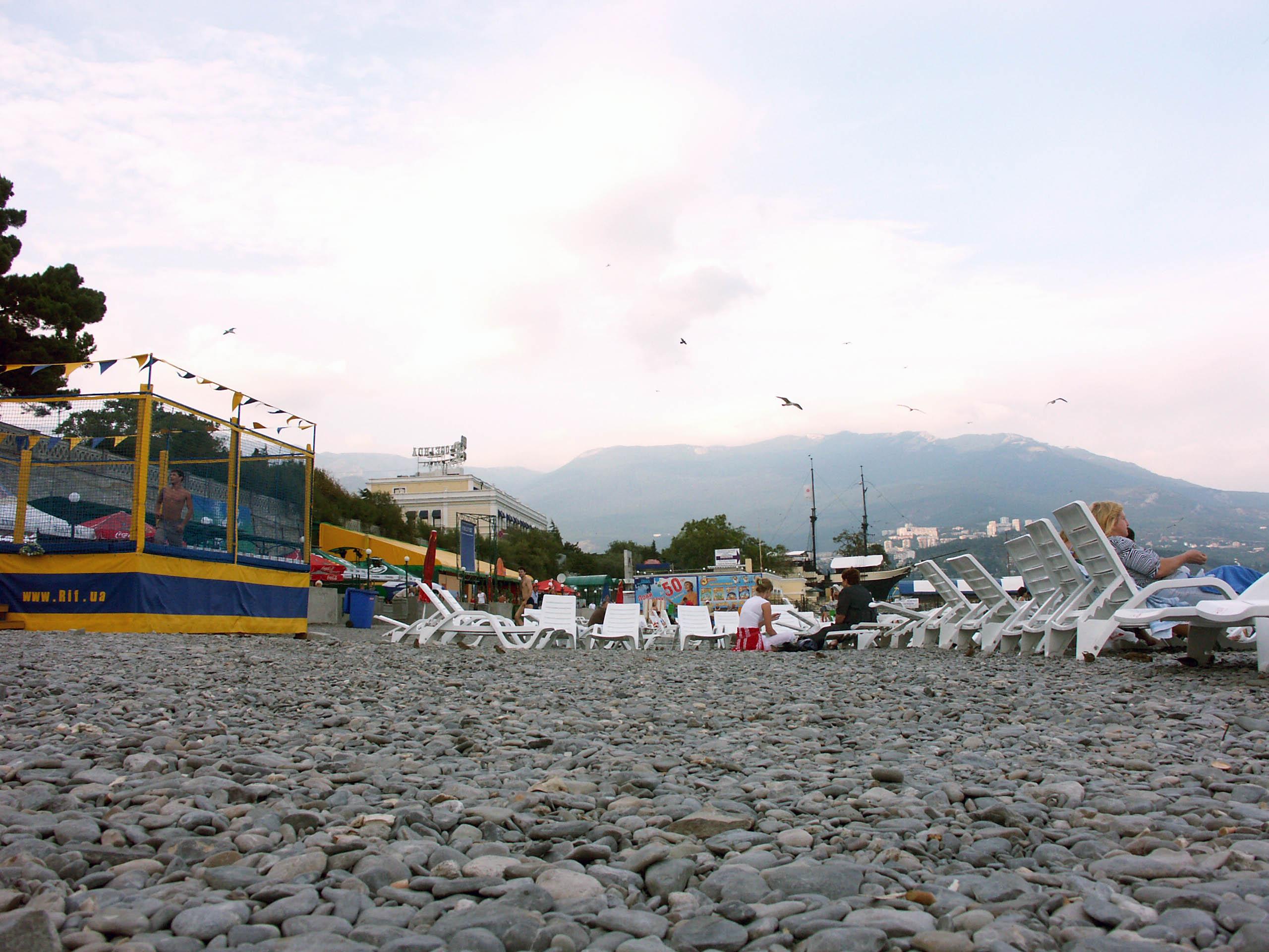 Городской пляж ялты фото