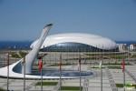 Ледовый дворец Большой и Олимпийский факел