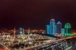 Столица Чеченской республики в ночное время